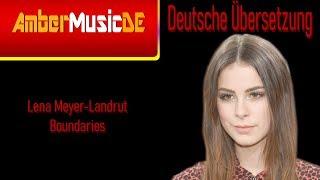 Lena Meyer Landrut   Boundaries (Deutsche Übersetzung)