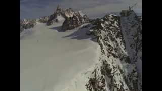 Aerial video at Rifugio Torino & Punta Helbronner