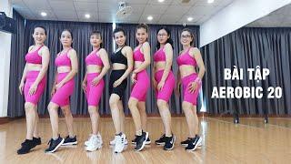 Bài tập Aerobic 20 | 30 phút luyện tập mỗi ngày đốt mỡ thừa toàn thân cùng HLV Hồ Hàm Hương