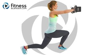 Total Body Strength Training with Dumbbells - Challenging Dynamic Superset Workout by FitnessBlender