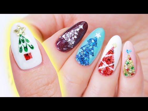 Christmas Tree Nail Art Designs | 5 Easy Ways!