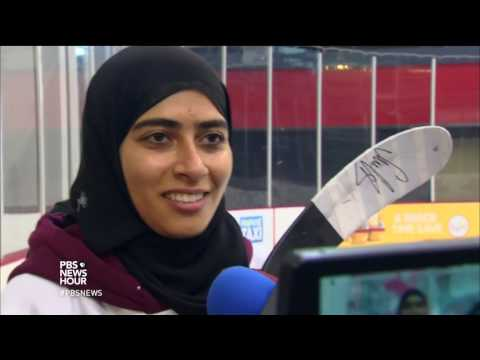 This female hockey player from United Arab Emirates scores goals and respect