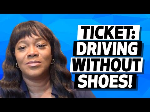 video thumbnail Ticket: Driving Without Shoes