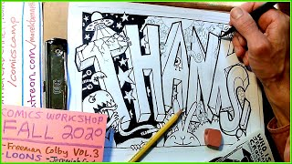 #comicscamp2020 Wednesday Live = THANKS Page!