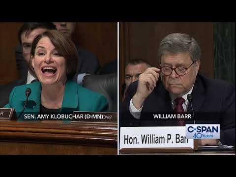Complete exchange between Sen. Amy Klobuchar and Attorney General Barr (C-SPAN)