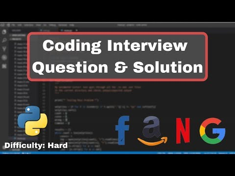 Python Coding Interview Practice - Difficulty: Hard