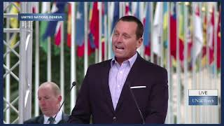 U.S. Ambassador to Germany Richard Grenell Speaks at UN Watch Rally Against Anti-Israeli Bias