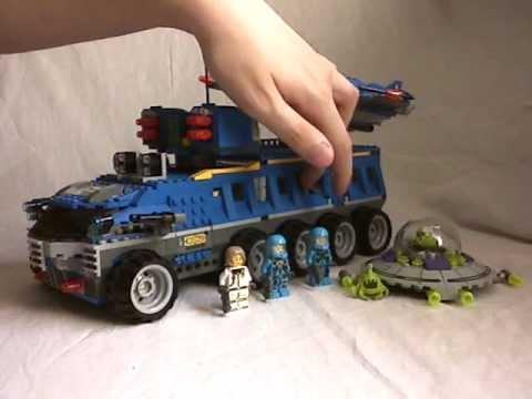 Vidéo LEGO Alien Conquest 7066 : Le QG de défense terrestre