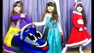 Пылесос продает в магазине | Funny Baby doing shopping with Vacuum Cleaner | Song for children