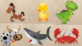Learn Farm Animals Names and Sounds | Puzzle Games for Kids | The Surprise For Kids