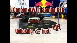 Carson VW T1 Samba RTR   1:87 RC-Car   Unboxing & Test  