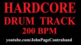 Basic Hardcore Drum Backing Track 200 bpm FREE