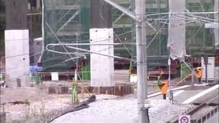 JR九州長崎「浦上駅付近,高架工事の進捗」2017.10.12 Japanese Bullet Train