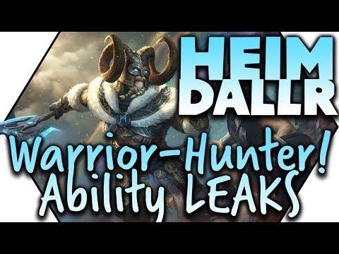 SMITE Heimdallr Ranged WARRIOR-Hunter With CLEAVE?! First ABILITY Leak! ANTI-LOKI!