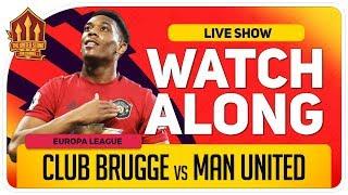 CLUB BRUGGE Vs MANCHESTER UNITED | With Mark Goldbridge LIVE