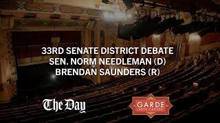 CT 33rd Senate District Debate - Sen. Norm Needleman (D) and Brendan Saunders (R)