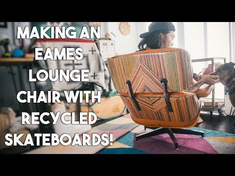 Recycling Old Skateboards Into a Eames Lounge Chair
