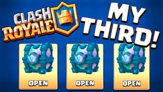 OMG! LEGENDARY CHEST DROPPED AGAIN :: Clash Royale :: EPIC CHEST DROP AND MAGICAL CHEST OPENING!