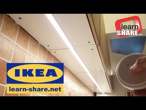 IKEA Kitchen Lighting OMLOPP - How to Install Countertop LED Lights