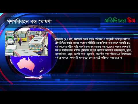 News Flash | Tuesday, March 24, 2020 | নিউজ ফ্ল্যাশ | Daily Protidiner Chitro