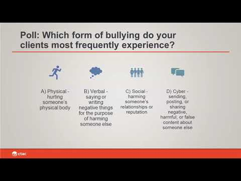 Clinical Approaches to Address Bullying | CTAC