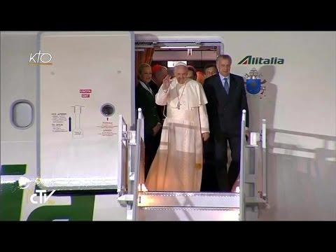 Arrivée du Pape François au Mexique