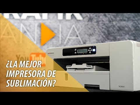 ¿La mejor impresora de sublimación? Virtuoso SG800 Sawgrass