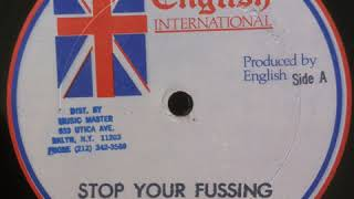 Bugsy - Stop Your Fussin - 12inch / English International