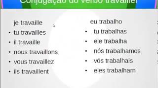 Conjugação no presente do verbo montrer,travailler,fermer - mostrar,trabalhar,fechar em Francês