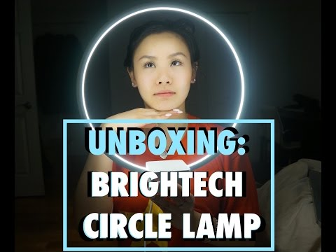 UNBOXING: BRIGHTECH LED CIRCLE TABLE & DESK LAMP REVIEW | phattie