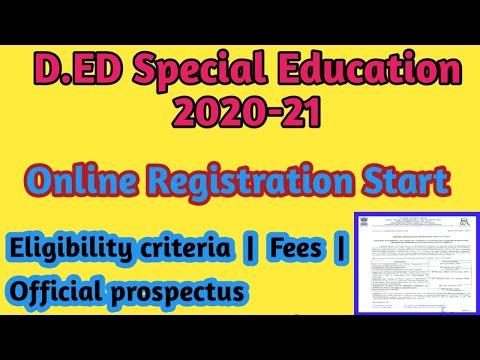 D.Ed Special Education course 2020-21 || Online Registration start ...