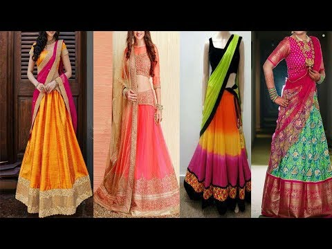 Latest Designer  Half Sarees ||  Designer Lehenga  || Party Wear Half Saree || The Fashion Zone Mp3