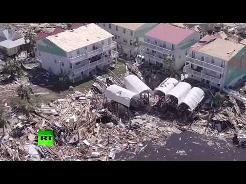 Aerial footage: Hurricane Michael aftermath