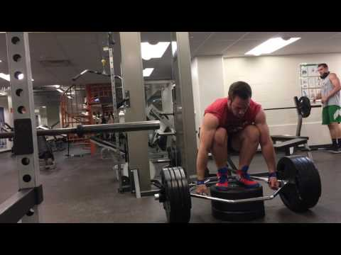 440 EXTREME Deficit Trap Bar Deadlift
