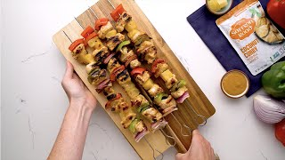 Coconut Curry Grilled Chicken Kebabs