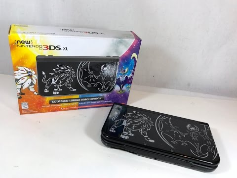 Pokemon Sun and Moon | Solgaleo Lunala Black Edition New Nintendo 3DS XL Unboxing