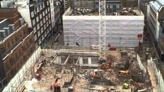 preview picture of video 'Crossrail time lapse video - Tottenham Court Road Western Ticket Hall, November 2010'