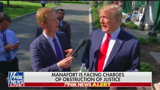 Trump tries to distance himself from Manafort