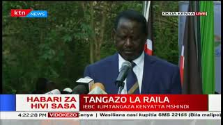 Raila Odinga says the objectives of the people's assembly they've formed