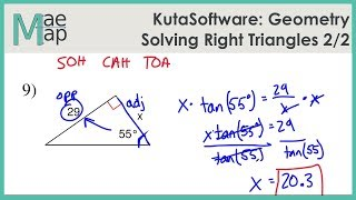 KutaSoftware: Geometry- Solving Right Triangles Part 2