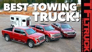 Best Half-Ton Towing Truck! Ford F-150 vs GM 1500 vs Ram 1500 vs World's Toughest Towing Test