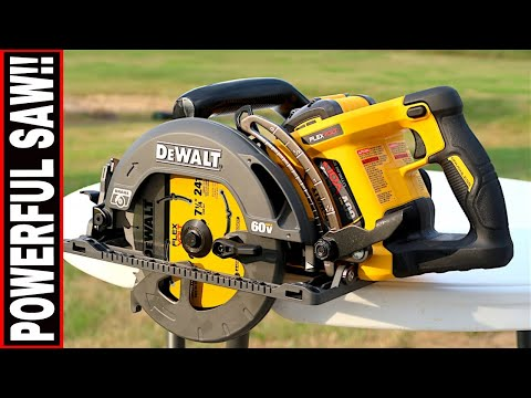 DEWALT 60-VOLT WORM DRIVE STYLE CIRCULAR SAW- TOOL REVIEW TUESDAY!