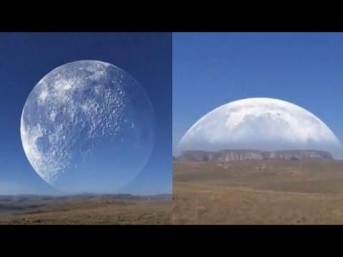 Lua gigante passando pelo Ártico: astrônomo analisa o vídeo