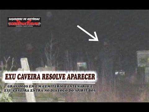 Exu Caveira se apresenta no Spirit box em cemitério isolado. #cacadoresdehistoriassobrenaturais #CHS