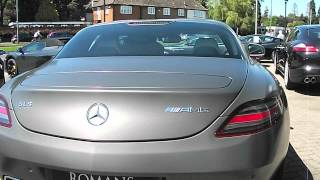 preview picture of video 'Mercedes SLS AMG at Romans International dealership in Banstead, Surrey, on 24.07.12'
