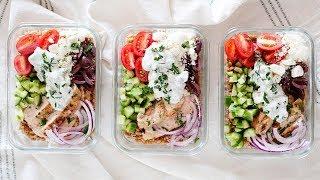 Mediterranean Chicken Farro Bowls | Healthy Meal Prep Idea