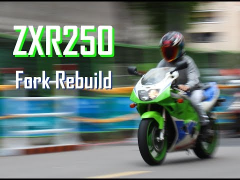 Kawasaki ZXR 250 USD Front Fork rebuild  ZXR250前倒叉重整 フロントフォーク