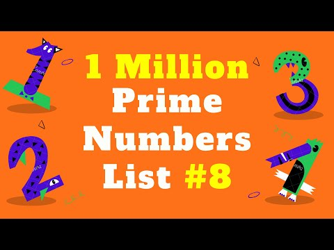 1 Million Prime Numbers List #8 | Prime Numbers Between 1 up to 1 Million