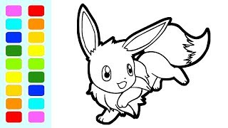 Pokemon Coloring Book Pages Eevee Normal Speed Coloring For Kids