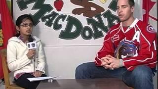 Yusra Imran interviews Bull Dogs hockey player